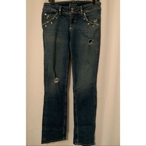Marciano Distressed Embellished Jeans Size 32